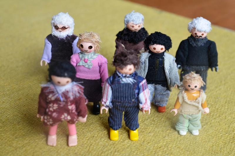 familia representada con muñecos playmobil
